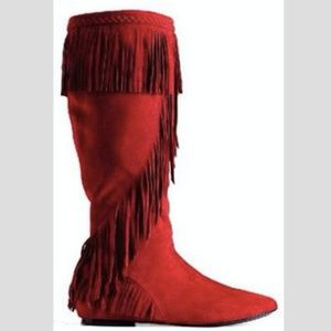 b11c50d06 Sam Edelman Shoes - Sam Edelman Utah Suede Tall Boots with Fringe